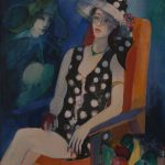 Abrahamyan Khachik 10.Lady with Pomegrante 1996 Oil on Canvas 90cmx80cm