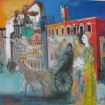 Abrahamyan Khachik 15.Ancient History 2002 Oil on Canvas 90cmx90cm