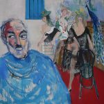 Abrahamyan Khachik 17.Parajanov 1994 Oil on Canvas 90cmx80cm