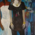 Abrahamyan Khachik 5.Three Beauty 1999 Oil on Canvas 140cmx95cm